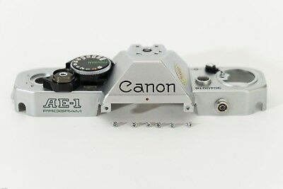 Canon AE-1 PROGRAM camera cover plate replacement, used spare part.