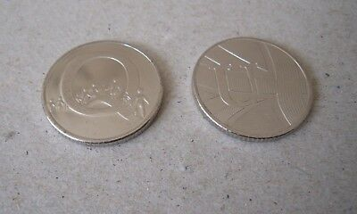 CHEAPEST ON EBAY - 1 x Q & 1 x U - 10p COINS -  A-Z COLLECTORS BRITISH COIN HUNT
