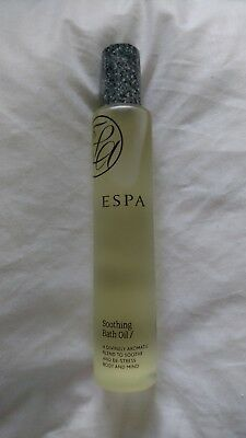 ESPA soothing bath oil destress body and mind rrp £30/100ml