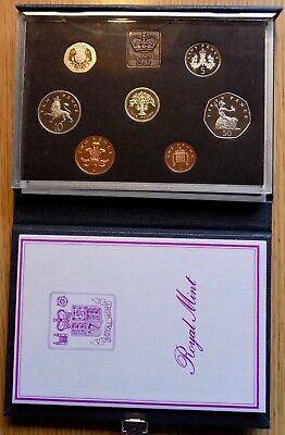 1987 Great Britain 7 Coin Deluxe Proof Set - Sealed