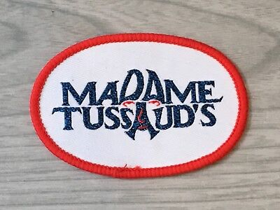 Vintage Madame Tussaud's Embroidery Sew On Patch Badge Fabric Bag Clothes