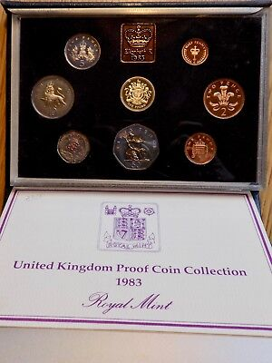 1983 Great Britain 8 Coin Deluxe Proof Set Sealed