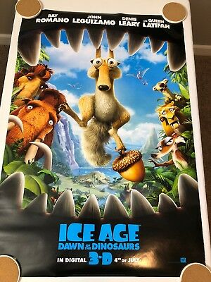 """ICE AGE: DAWN OF THE DINOSAURS Original Movie Poster 27"""" X 40"""" DS/Rolled - 2009"""