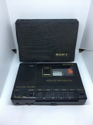 Sony TCM-1000A Cassette-Corder Player - Flat Mic Auto Reverse - Super Rare
