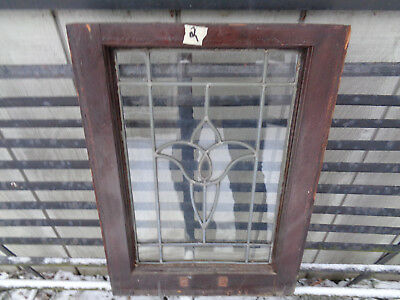 antique leaded glass tulip window (rare size