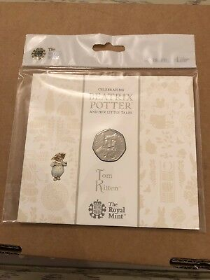 2017 Beatrix Potter Tom Kitten 50p Coin Royal Mint Uncirculated ,Sealed Pack