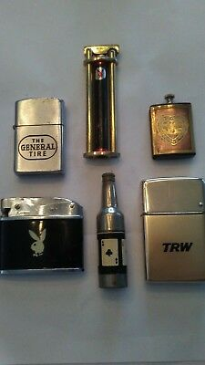 Great Mixed Lot Of 6 Vintage Advertising & Novelty Lighters