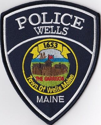 Wells Police Maine ME Police patch