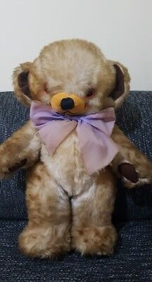 Large Vintage merrythought cheeky bear bells in ears great condition 45cm tall