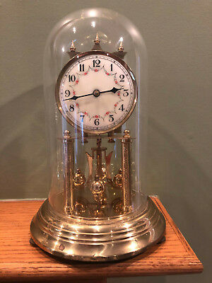 Vintage Forestville Germany 400 Day Anniversary Dome Clock