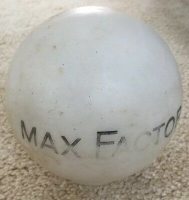 """Max Factor Vintage Store Display Globe """"For Beautiful Eyes"""""""
