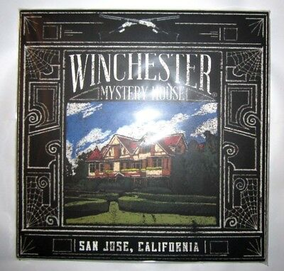 """WINCHESTER MYSTERY HOUSE Collector Souvenir Square 6"""" Deco Wall Art Tile Trivet"""