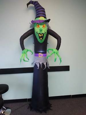 Kemper King 8 Foot Halloween Inflatable Airblown Witch Ghost Lighted for Home