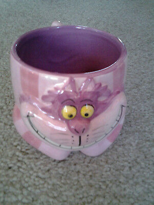 DISNEY THE CHESHIRE CAT from ALICE IN WONDERLAND SCULPTED CERAMIC COFFEE MUG WOW
