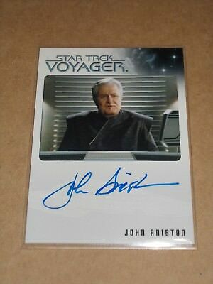 Star Trek Quotable Voyager John Aniston as Quarren Ambassador autograph MINT