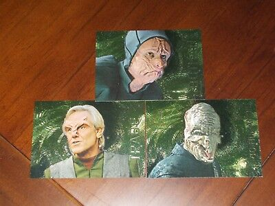 Star Trek Voyager Season Two Xenobio Sketches 3 Card Set 191 192 193 MINT