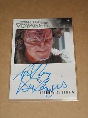 Star Trek Quotable Voyager Anthony De Longis as First Maje Culluh autograph MINT