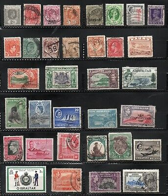 British Colonies  Lot of 34 stamps