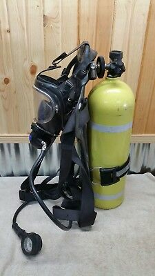 Drager Breathing Apparatus Tank Panorama Nova Mask Regulator SCBA 3ALM Luxfer