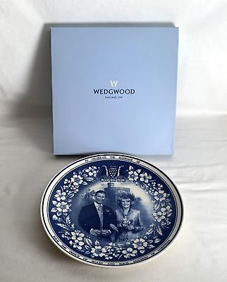 Boxed Wedgwood Wedding Prince Charles Camilla Duchess 2005 Plate Daily Mail
