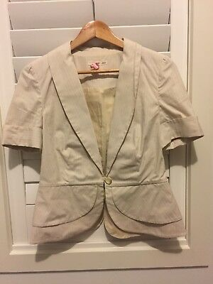JAG Ladies Size 10 Tailored Summer Suit Jacket In excellent Condition