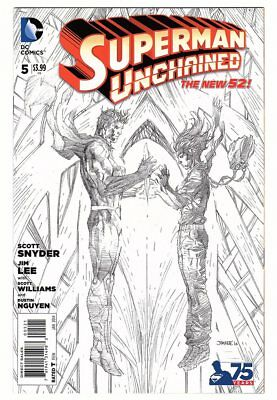 DC Comics Superman Unchained #5 1:300 Jim Lee Black and White Variant NM