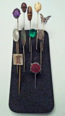 Great Lot Of 11 Early Vintage Stick Pins 1 Sharon Bogoff Nyc.