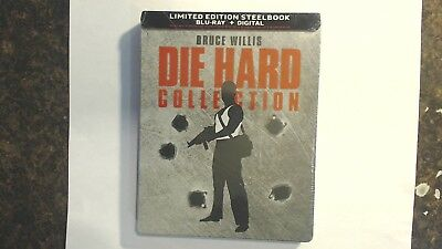 Die Hard 5 Movie Collection (Blu Ray + Digital + Steelbook) New Factory Sealed
