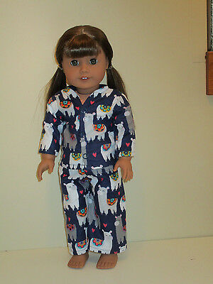 "Llama Pajamas 18"" Doll Clothes American Girl"