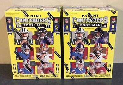 2018 Panini Football Contenders Blaster Bot Of 2 Unopened Boxes NFL
