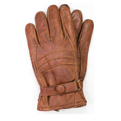 Riparo Men's Genuine Leather Winter Insulated Gloves with Fleece Lining - Brown