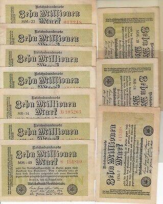Germany 10 Million Mark Inflation Banknote
