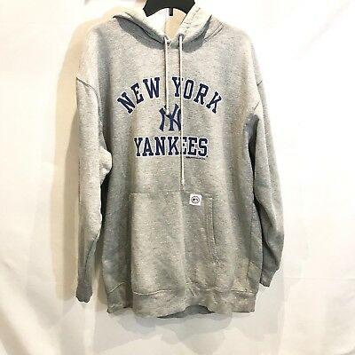 on sale a4fcf 6b460 NY NEW YORK Yankees Stitches Athletic Gear Hoodie Pass Through Front Pocket  XL