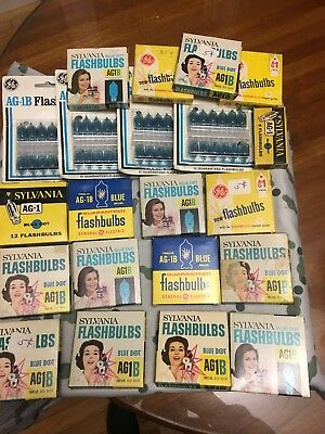 Lot Of 20 Boxes Of AG 1B Flashbulbs 250 Total