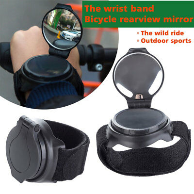 Wrist Band Bike Rear View Mirror 360° Adjustable Bicycle Rear View Mirror AU