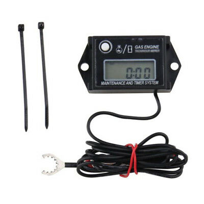 1X Waterproof IP65 Tiny Tach Digital Hour Meter Tachometer Resettable Job Timer