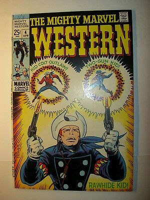 Mighty Marvel Western #4 VF+, 1969, Rawhide Kid, Two-Gun Kid, & Kid Colt Outlaw