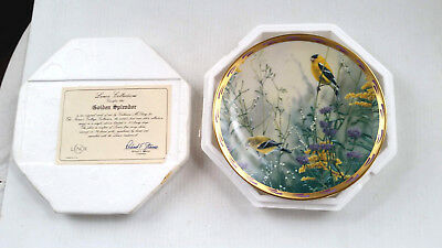 1992 Lenox Golden Splendor Goldfinch Collector Plate