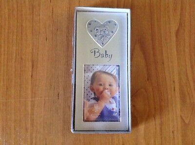 Baby photo Frame silver and blue