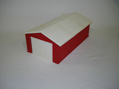 1/64 Ertl Red And White Garage Shed Building Toy