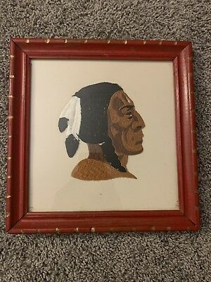 Native American Framed Embroidery
