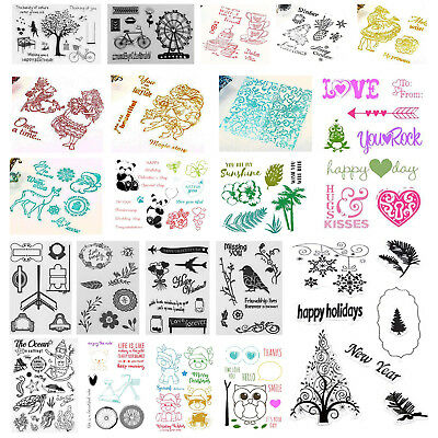 Transparent Clear Silicone Rubber Stamp DIY Cling Diary Scrapbooking Card Craft