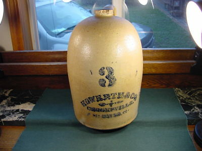 Howbath & Co Crooksville Ohio Stoneware Pottery 3 Gallon Jug Whiskey