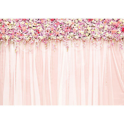backdrops wedding party pink floral Flower wall curtains love Bridal shower