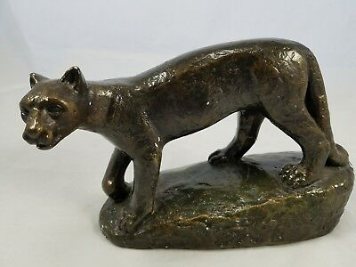 Penn State Nittany Lion Plaster Sculpture Signed Heinz Warneke Dated 1972   Rare