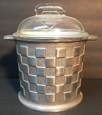 Vintage MCM Guardian Service Ware Ice Bucket - Cast Aluminum - with Lid & Liner
