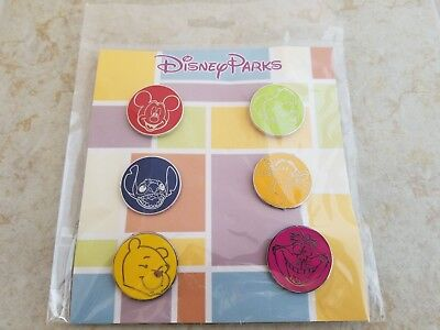 Pin Trading Disney Pins Lot of 6 New Booster Set Stitch Cheshire Mickey Pooh