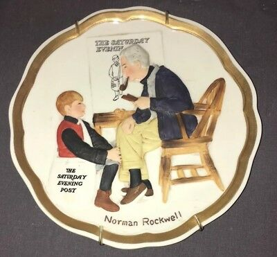 VINTAGE NORMAN ROCKWELL Collectible Plate Saturday Evening Post 1984 Decorative