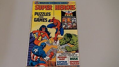 Marvel Super Heroes Puzzles and Games Rare Promo General Mills UNCIRCULATED 1979