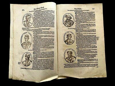 LIST OF GALLIC KINGS from 1500s antique book
